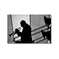 Tictac Trompet Kanvas Tablo - 60X90 Cm