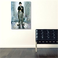 Tictac Charlie Chaplin Kanvas Tablo - 60X90 Cm