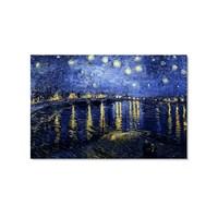 Tictac Yıldızlı Gece 2 Kanvas Tablo - 60X90 Cm