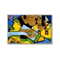 Tictac Picasso Gitar Kanvas Tablo - 50X75 Cm
