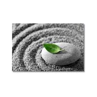 Tictac Taş Ve Yaprak Kanvas Tablo - 40X60 Cm
