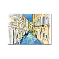 Tictac Venedik Kanalları Kanvas Tablo - 60X90 Cm