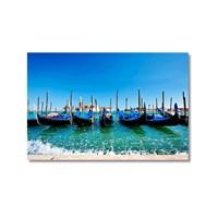 Tictac Venedik Gondolları 3 Kanvas Tablo - 50X75 Cm