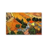 Tictac Van Gogh Köy Evi Kanvas Tablo - 60X90 Cm