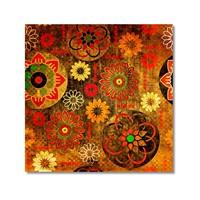 Tictac Renkli Semboller Kanvas Tablo - 50X50 Cm