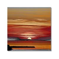 Tictac Günbatımı Kanvas Tablo - 70X70 Cm