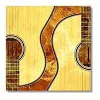 Tictac Gitarlar Kanvas Tablo - 70X70 Cm