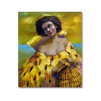 Tictac Sarı Kıyafetli Kaıdn Kanvas Tablo - 50X50 Cm