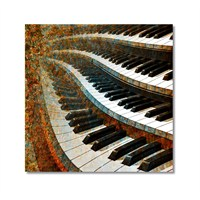 Tictac Pianolar Kanvas Tablo - 50X50 Cm