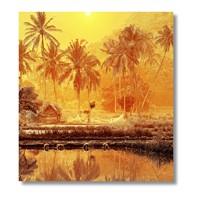 Tictac Afrika Kanvas Tablo - 70X70 Cm