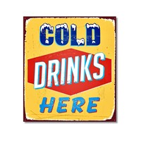 Tictac Cold Drinks Here Kanvas Tablo - 60X60 Cm