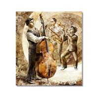 Tictac Jazz Müzisyenleri Kanvas Tablo - 50X50 Cm