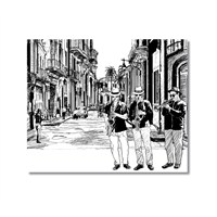 Tictac Sokakta Jazz Kanvas Tablo - 60X60 Cm