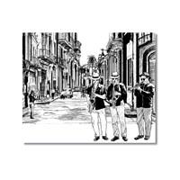 Tictac Sokakta Jazz Kanvas Tablo - 50X50 Cm