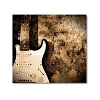 Tictac Elektro Gitar Kanvas Tablo - 60X60 Cm