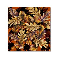 Tictac Meşe Yaprakları Kanvas Tablo - 70X70 Cm