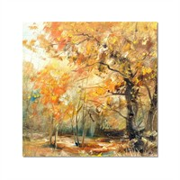 Tictac Dekoratif Doğa Kanvas Tablo - 50X50 Cm