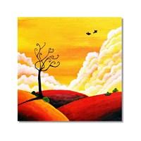 Tictac Dekoratif Doğa 2 Kanvas Tablo - 60X60 Cm