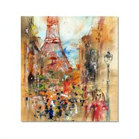 Tictac Paris Eyfel Kanvas Tablo - 60X60 Cm