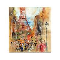 Tictac Paris Eyfel Kanvas Tablo - 70X70 Cm