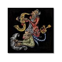 Tictac Jazz Müzisyenleri 3 Kanvas Tablo - 60X60 Cm