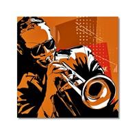 Tictac Jazz Müzisyenleri 5 Kanvas Tablo - 70X70 Cm