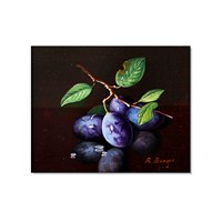 Tictac Mor Erikler Kanvas Tablo - 50X50 Cm