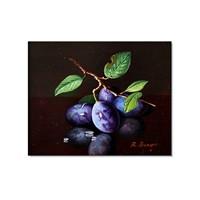 Tictac Mor Erikler Kanvas Tablo - 70X70 Cm