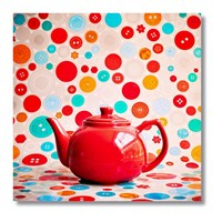 Tictac Retro Çaydanlık Kanvas Tablo - 60X60 Cm