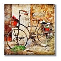 Tictac Bisiklet Kanvas Tablo - 50X50 Cm - 50X50 Cm