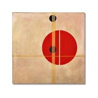 Tictac Soyut Kanvas Tablo - 50X50 Cm