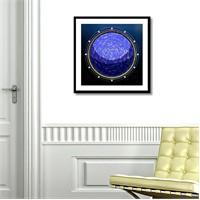 Tictac Yıldız Haritası 2 Kanvas Tablo - 60X60 Cm