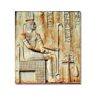 Tictac Mısır Sembolleri Kanvas Tablo - 60X60 Cm