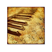 Tictac Piano Ve Müzik 2 Kanvas Tablo - 50X50 Cm