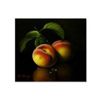 Tictac Meyveler - Şeftali Kanvas Tablo - 60X60 Cm