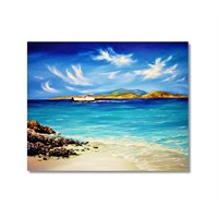 Tictac Denizdeki Feribot Kanvas Tablo - 50X50 Cm
