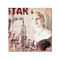 Tictac Marilyn Ve New York 1 Kanvas Tablo - 70X70 Cm