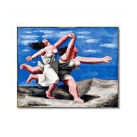 Tictac Picasso Koşan Kadınlar Kanvas Tablo - 60X60 Cm