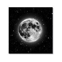 Tictac Ay Ve Yıldızlar Kanvas Tablo - 60X60 Cm