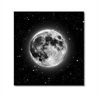 Tictac Ay Ve Yıldızlar Kanvas Tablo - 50X50 Cm