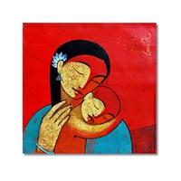 Tictac Anne Sevgisi Kanvas Tablo - 50X50 Cm