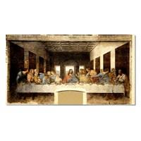 Tictac Son Yemek / Last Supper Kanvas Tablo - 60X120 Cm
