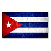 Tictac Küba Bayrağı Kanvas Tablo - 60X120 Cm