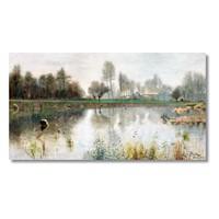 Tictac Göl Kanvas Tablo - 40X80 Cm