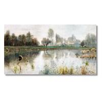Tictac Göl Kanvas Tablo - 60X120 Cm
