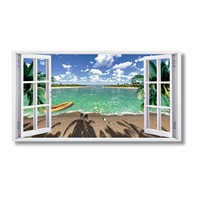 Tictac Pencere Kanvas Tablo - 60X120 Cm