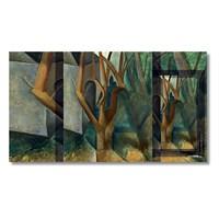 Tictac Pablo Picasso Ağaçlar Kanvas Tablo - 50X100 Cm