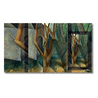 Tictac Pablo Picasso Ağaçlar Kanvas Tablo - 40X80 Cm