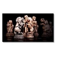 Tictac Satranç Atlar Kanvas Tablo - 50X100 Cm