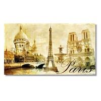 Tictac Paris Kanvas Tablo - 40X80 Cm